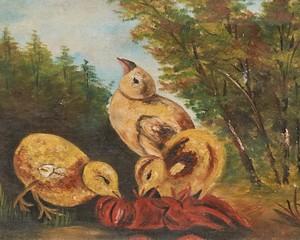 Oil-Painting-3-Chicks-In-Gilt-Frame_90039B.jpg