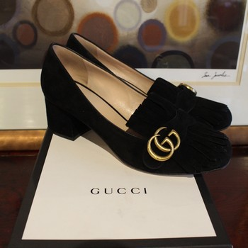Gucci-Size-40-Black-Suede-Marmont-Fringe-Pump-with-Gold-Logo_60653E.jpg