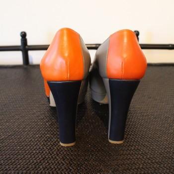 Jil-Sander-Size-37-OrangeTaupe-and-Navy-Pumps_62352D.jpg