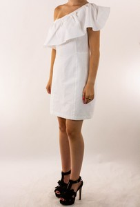 A.L.C. White One Shoulder Ramie Dress