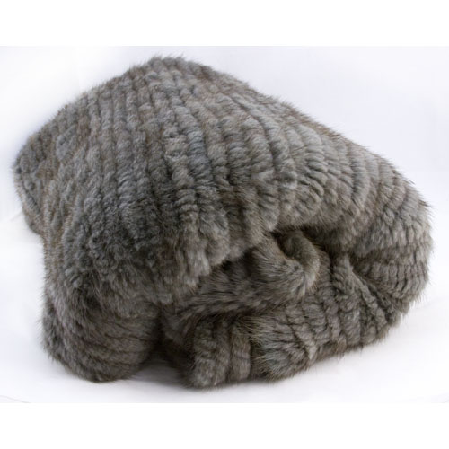 ADRI Woven Mink Throw Blanket In Warm Coal 40 X 40 Penny Pincher Fascinating Real Mink Throw Blanket