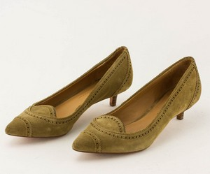 AERIN Tan Suede Pointed Toe Low Pump