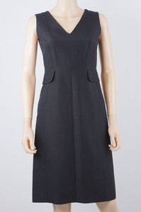 ALBERTA FERRETTI Black v-neck sleeveless dress size 6