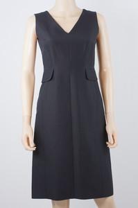 ALBERTA FERRETTI Black v-neck sleeveless dress size 6