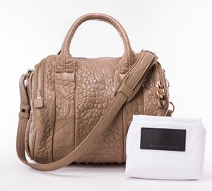 ALEXANDER WANG Mini Rockie Taupe Round Shoulder Bag