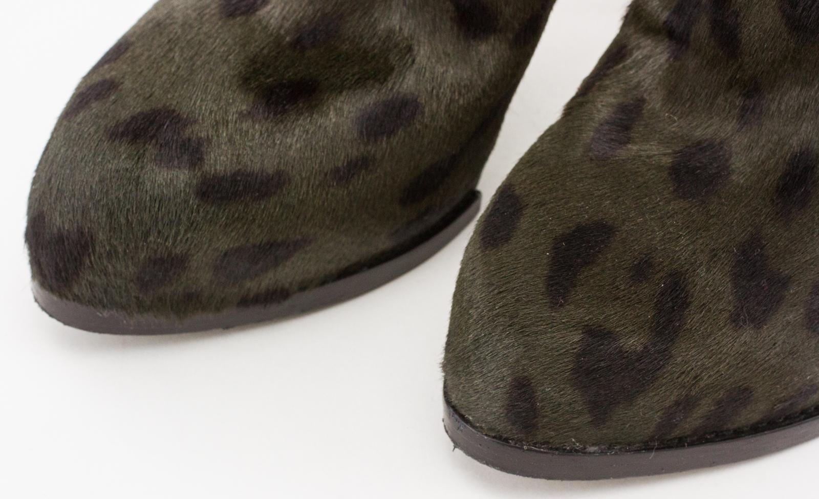 Alexander Wang Olive Green Leopard Print Pony Hair