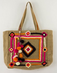 AMERICA AND BEYOND Indian Muse Tan Tote