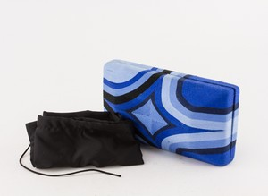 BEATRIZ Blue Assorted String Clutch