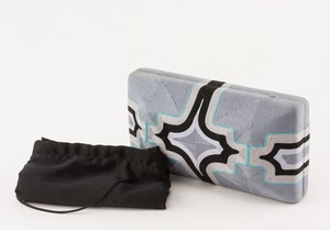 BEATRIZ Gray Assorted String Clutch