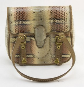 BOTTEGA VENETA Tan snake skin mini bag