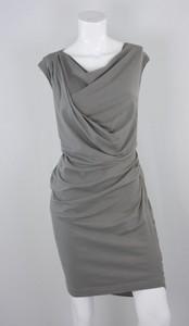 BRUNELLO CUCINELLI Gray sleeveless cotton wiggle dress size 2