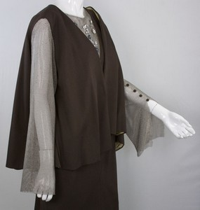 CD-GREENE-Brown-dress-and-jacket-wchain-mail-sleeves-rhinestone-accents-size-12_252126I.jpg