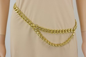 CHANEL Gold Chain Link Adjustable Belt