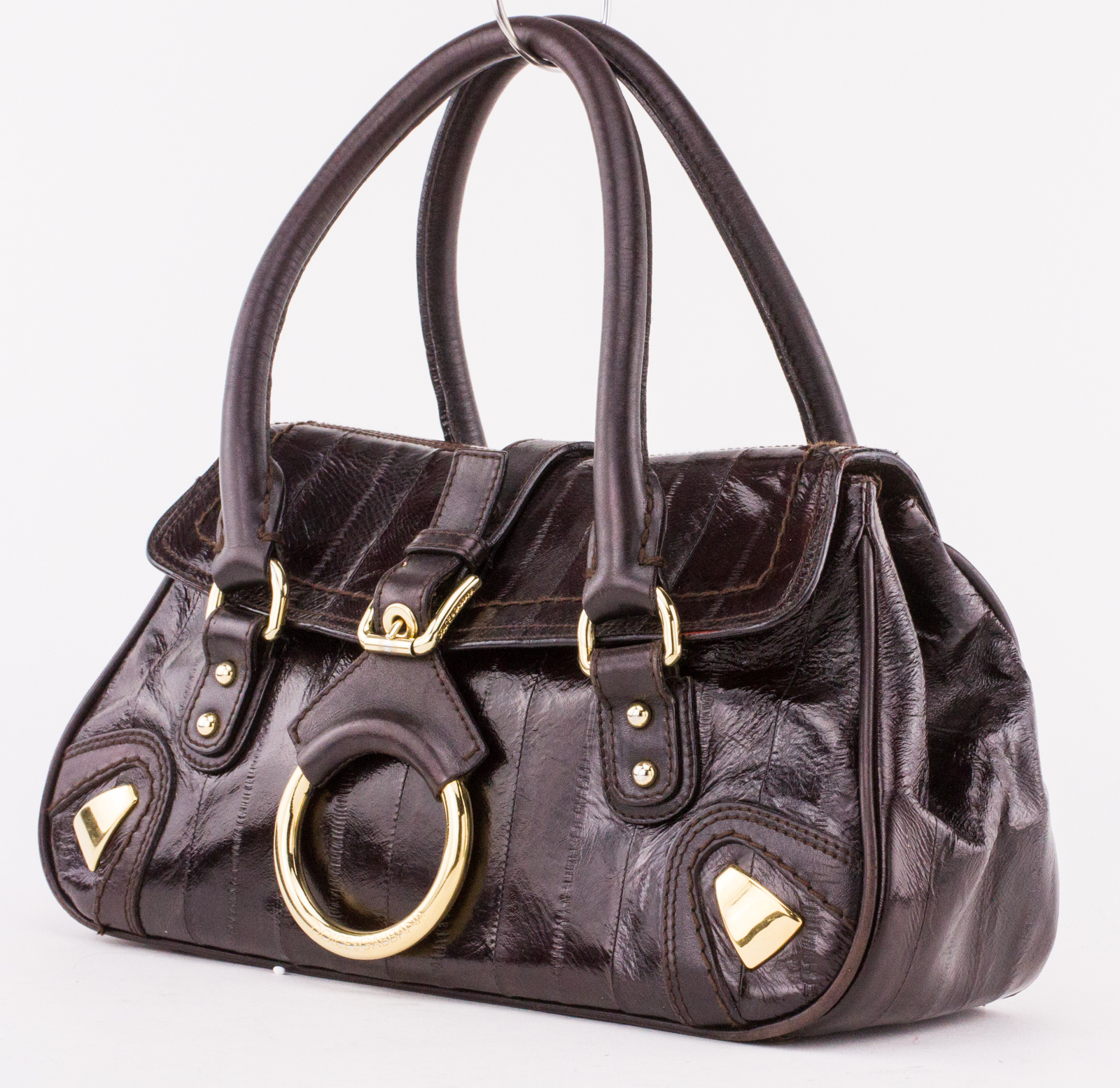 1fc09b9aa85 DOLCE & GABBANA Brown Eel Small Flap Bag | Penny Pincher Boutique
