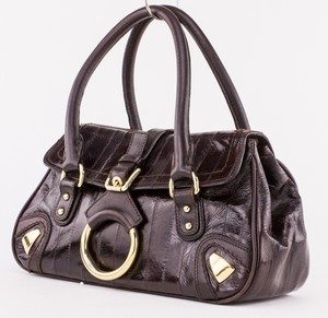 DOLCE & GABBANA Brown Eel Small Flap Bag
