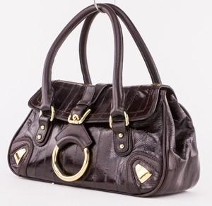 DOLCE & GABBANA Brown Eel Small Flap Bag