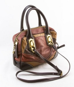 DOLCE & GABBANA Brown and red miss edge small shoulder bag