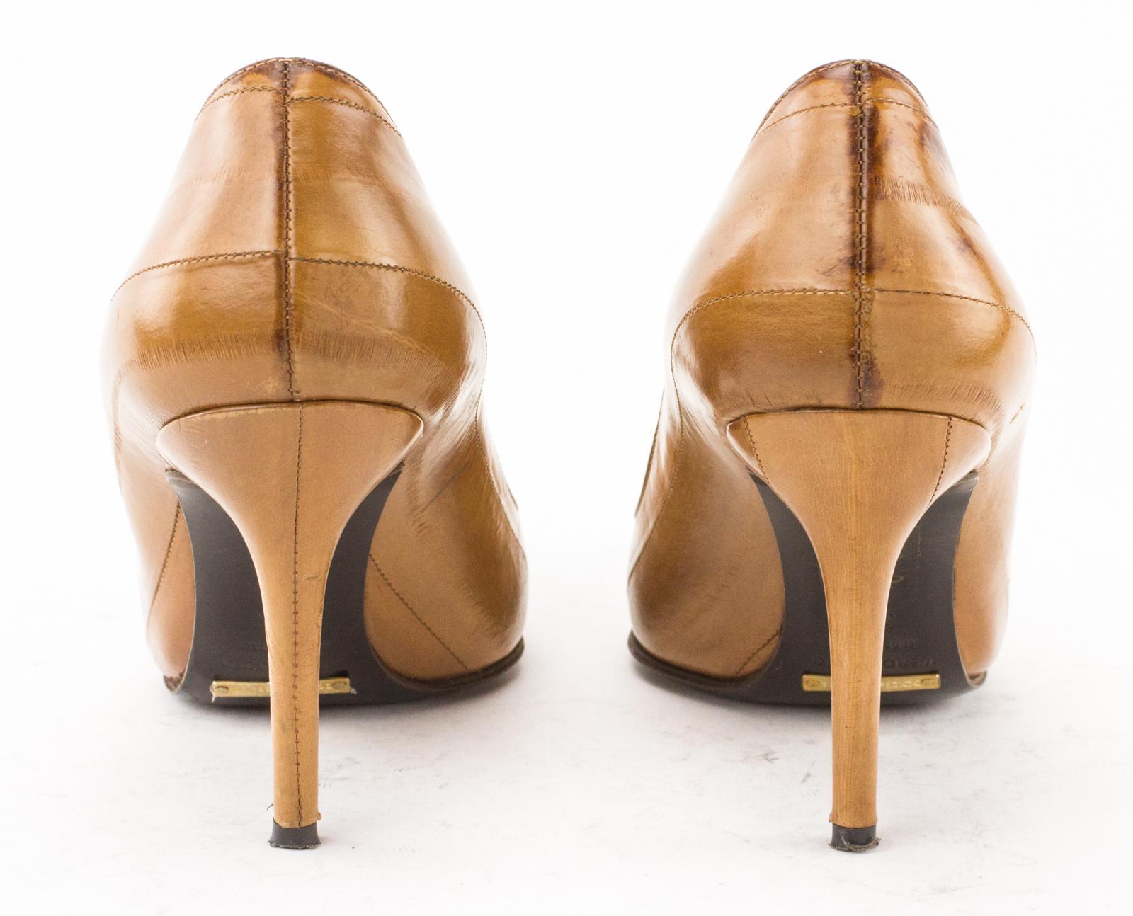 Dolce & Gabbana Eelskin Peep-Toe Pumps buy for sale 3Geb4Z9Jw