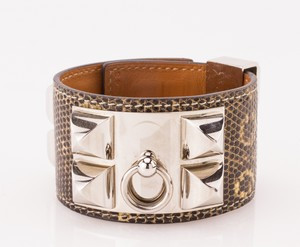 HERMES-Black-and-White-Lizard-Skin-Palladium-Collier-De-Chien-Bracelet_266052B.jpg