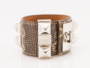 HERMES-Black-and-White-Lizard-Skin-Palladium-Collier-De-Chien-Bracelet_266052C.jpg