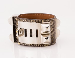 HERMES-Black-and-White-Lizard-Skin-Palladium-Collier-De-Chien-Bracelet_266052D.jpg