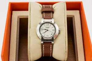 HERMES-Brown-Leather-Watch-with-Silver-Round-Face_259663B.jpg