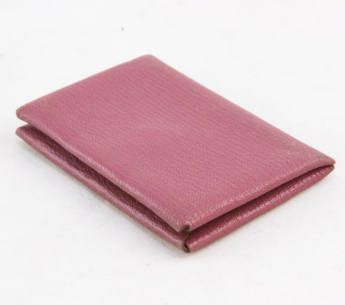 hermes light pink calvi epsom credit card holder case - Pink Card Holder