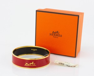 HERMES Red Bangle Size 70