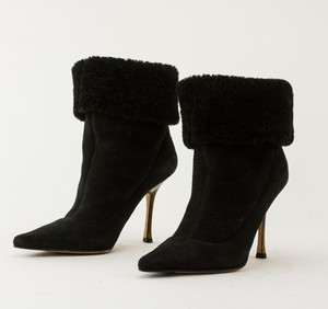JIMMY CHOO black short suede boots