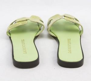 LAURENT-EFFEL-Green-alligator-open-toe-low-heel-flats-size-35-US-5_245981C.jpg