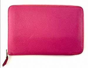 Large Pink Hermes Wallet