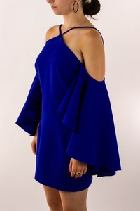 MILLY Royal Blue Wing Sleeve Dress