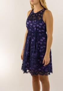 NANETTE LEPORE Navy Blue Lace Secret Escapes Sleeveless Dress