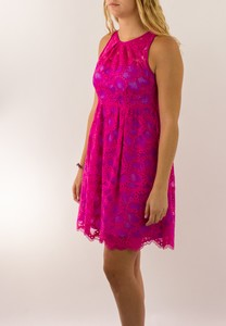 NANETTE LEPORE Pink Lace Secret Escapes Sleeveless Dress