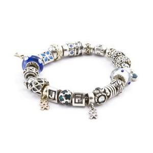 PANDORA Sterling silver 925 ALE multi charm bracelet