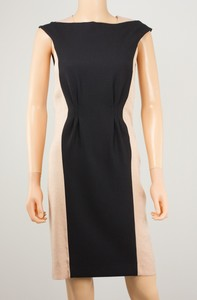 PHILOSOPHY Black & Shimmery Nude Evening Sheath Dress Size 2