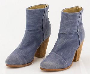 RAG & BONE Denim Booties with Cork Heel