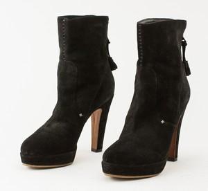RAG & BONE black suede ankle bootie heel