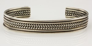 RVF Sterling Silver Braided Cuff