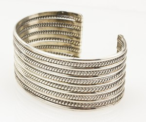 STERLING Silver Narrow Twisted Cuff