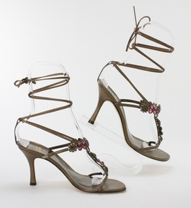 STUART-WEITZMAN-Bronze-Lace-Up-Kitten-Heels-w-Pink--Orange-Floral-Jewels-Size-8_255743C.jpg