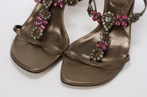 STUART-WEITZMAN-Bronze-Lace-Up-Kitten-Heels-w-Pink--Orange-Floral-Jewels-Size-8_255743F.jpg