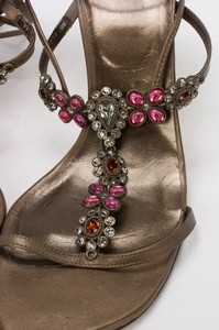 STUART-WEITZMAN-Bronze-Lace-Up-Kitten-Heels-w-Pink--Orange-Floral-Jewels-Size-8_255743J.jpg