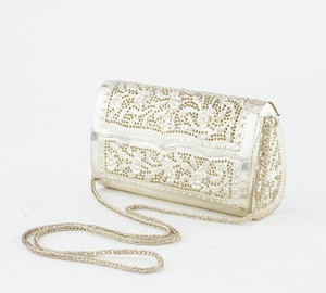 Silver Plated Hard Case Clutch