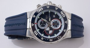 TECHNOMARINE Navy face stainless steel rubber strap water resistant watch