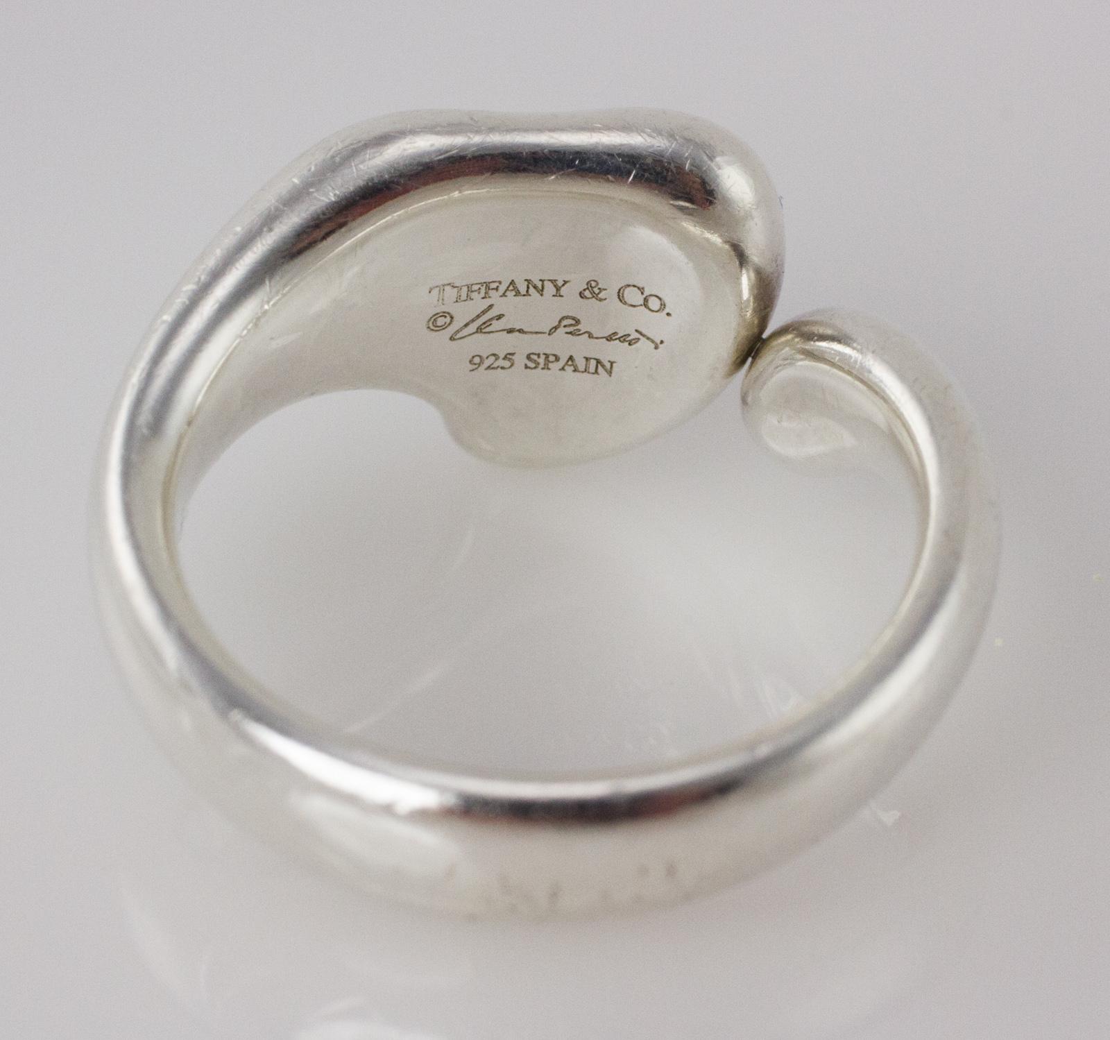 Tiffany Co Elsa Perritti Heart Ring Sterling Silver Penny