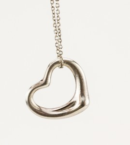 TIFFANY & CO Sterling Silver Elsa Peretti Heart Pendant