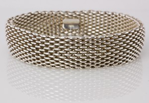 TIFFANY & CO Sterling Sliver Somerset Mesh Bracelet