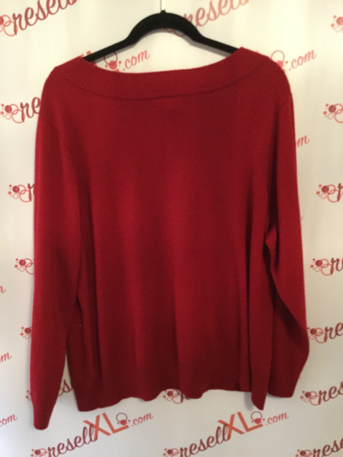 Calvin-Klein-Size-3X-Red-Sweater-with-Silver-Sequins_2850B.jpg
