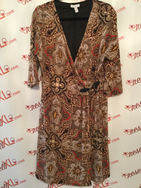 Charter-Club-Size-XL-Brown-Red-Paisley-Print-Faux-Wrap-Dress_2900A.jpg